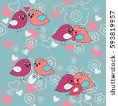 cute seamless pattern with a...   Shutterstock .eps vector #593819957