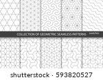 Stock vector collection of seamless ornamental patterns 593820527