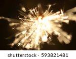 burning sparkler isolated on... | Shutterstock . vector #593821481
