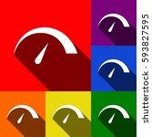 speedometer sign illustration....   Shutterstock .eps vector #593827595