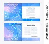 templates for square brochure.... | Shutterstock .eps vector #593838164