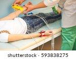 electrocardiogram  cardiac...   Shutterstock . vector #593838275