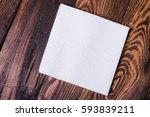 napkin isolated on wooden... | Shutterstock . vector #593839211