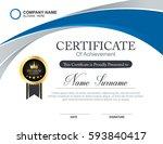 vector certificate template | Shutterstock .eps vector #593840417
