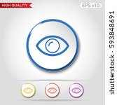 colored icon or button of eye... | Shutterstock .eps vector #593848691