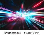 explosion lighting effect | Shutterstock . vector #593849444