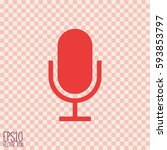 microphone icon. flat style for ... | Shutterstock .eps vector #593853797