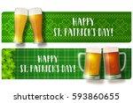 st. patrick's day lettering... | Shutterstock .eps vector #593860655
