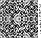 vector monochrome seamless...   Shutterstock .eps vector #593869847
