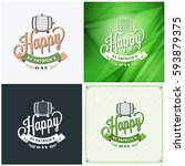 st. patricks day badge design.... | Shutterstock .eps vector #593879375