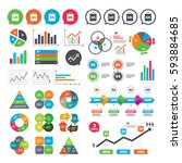 business charts. growth graph.... | Shutterstock .eps vector #593884685