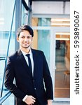 young indian business man... | Shutterstock . vector #593890067