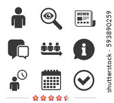 queue icon. person waiting sign.... | Shutterstock .eps vector #593890259