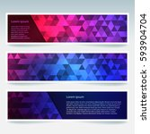 horizontal banners set with... | Shutterstock .eps vector #593904704