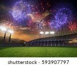 Stadium Sunset  With People...