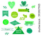 set of eco signs | Shutterstock .eps vector #593907905