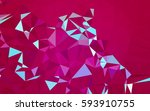 abstract low poly background ... | Shutterstock . vector #593910755