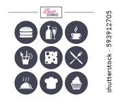 food  drink icons. coffee and... | Shutterstock .eps vector #593912705