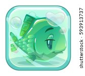 cartoon green fish behind the...