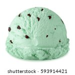 mint chocolate chip ice cream... | Shutterstock . vector #593914421