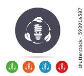 fluorescent lamp bulb with... | Shutterstock .eps vector #593916587