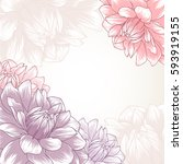 abstract floral background.... | Shutterstock .eps vector #593919155
