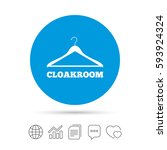 cloakroom sign icon. hanger... | Shutterstock .eps vector #593924324