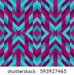 seamless mosaic pattern.... | Shutterstock .eps vector #593927465