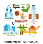travel arab emirates concept.... | Shutterstock .eps vector #593936921