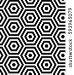 seamless regular geometric... | Shutterstock .eps vector #593965079