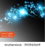 the glow lighting effect.... | Shutterstock .eps vector #593965649