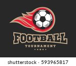 soccer football logo  emblem... | Shutterstock .eps vector #593965817