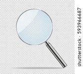 magnifier transparent realistic ... | Shutterstock .eps vector #593966687
