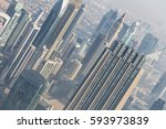 aerial view of dubai downtown... | Shutterstock . vector #593973839