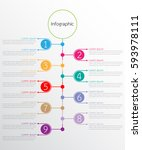 vector infographic templates... | Shutterstock .eps vector #593978111