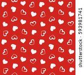 love theme hearts valentine's... | Shutterstock .eps vector #593981741
