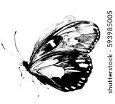 Black Butterfly Watercolor ...