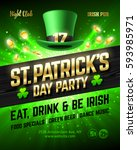 saint patrick's day party... | Shutterstock .eps vector #593985971