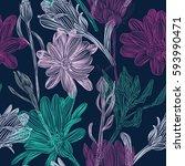 beautiful  bright  gentle ... | Shutterstock .eps vector #593990471