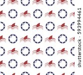 nautical seamless pattern with... | Shutterstock .eps vector #593994461
