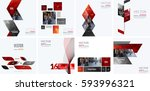 business vector design elements ... | Shutterstock .eps vector #593996321