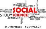 a word cloud of social science...   Shutterstock .eps vector #593996624
