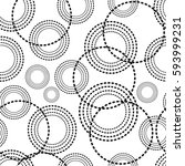 circle geometric seamless... | Shutterstock .eps vector #593999231