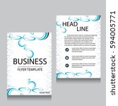 vector brochure flyer design... | Shutterstock .eps vector #594005771