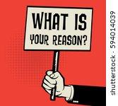 poster in hand  business... | Shutterstock .eps vector #594014039