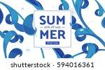 summer fashion market offer.... | Shutterstock .eps vector #594016361