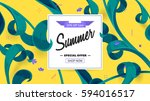 summer fashion market offer....   Shutterstock .eps vector #594016517