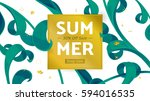 summer fashion market offer.... | Shutterstock .eps vector #594016535