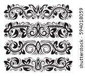 vintage decorative elements for ... | Shutterstock .eps vector #594018059