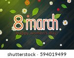 background to the 8th of march  ... | Shutterstock . vector #594019499